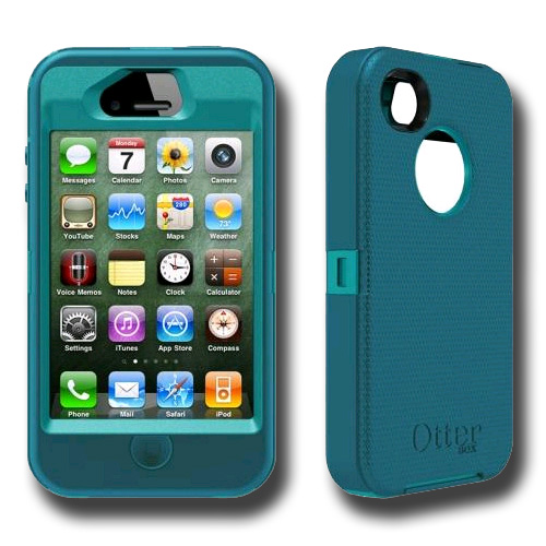 3333e25c2b8d6a Otterbox Defender Series Case   Holster for iPhone 4S   iPhone 4 ( Light  Teal Deep Teal)