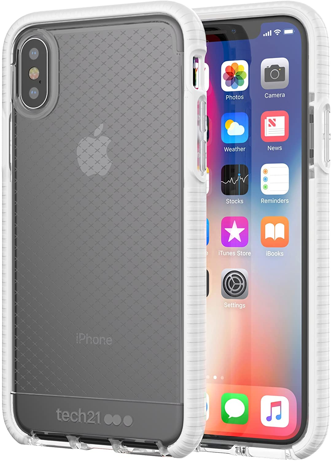 Tech21 Evo Check Case for iPhone X/Xs - Clear/White