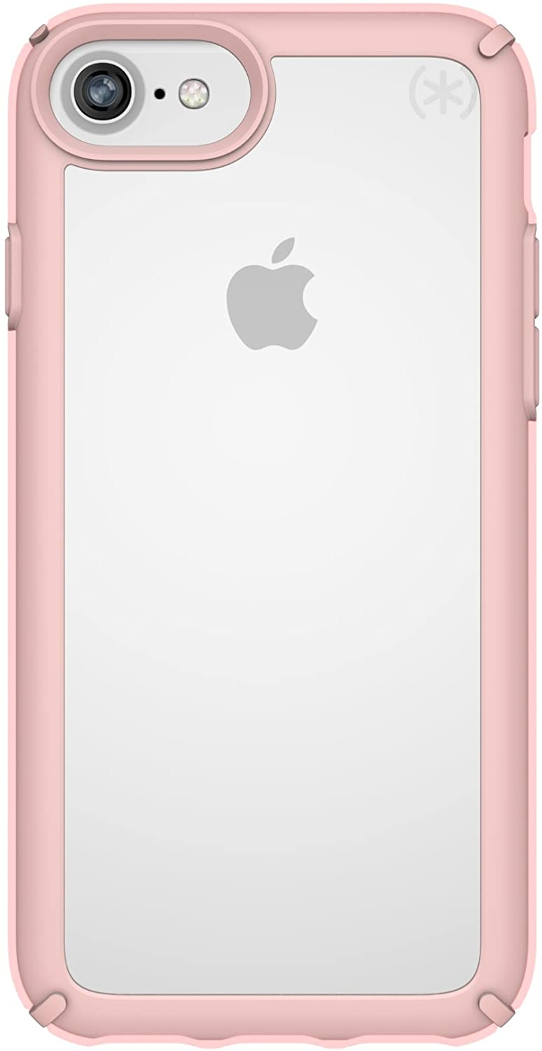 Speck Presidio Show Case for iPhone SE 2020, iPhone 8/7/6 - Clear/Rose Gold