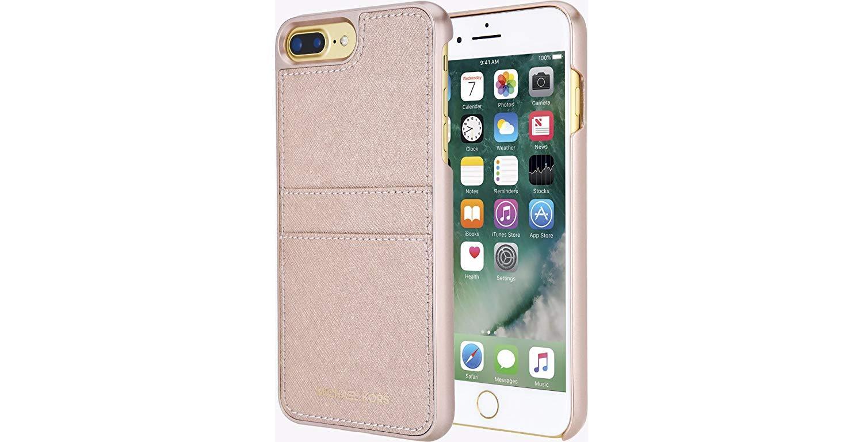 uk availability a80e6 08232 Original Michael Kors Saffiano Leather Pocket Case iPhone 8 Plus, 7 Plus -  Ballet Pink