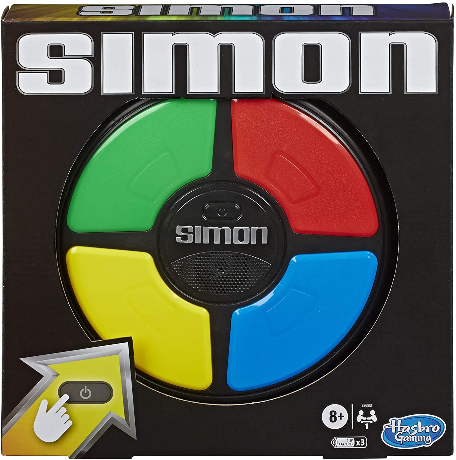 Simon Game; Electronic Memory Game for Kids Ages 8 and Up; Handheld Game with Lights and Sounds; Classic Simon Gameplay