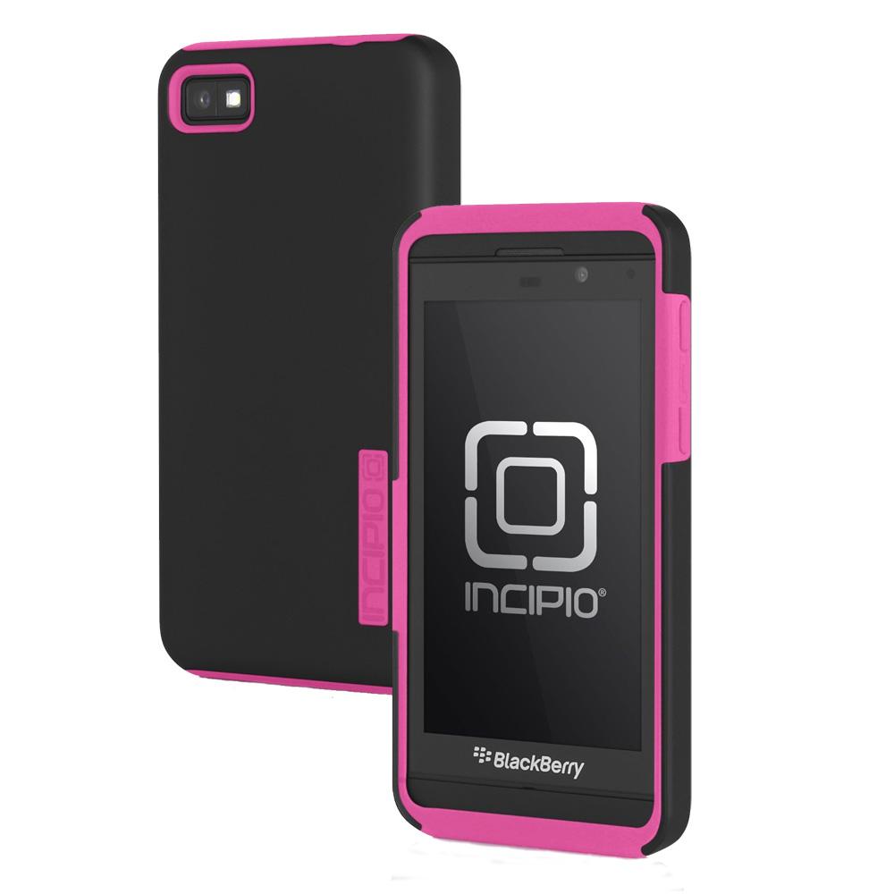 Incipio - DualPro Case for BlackBerry Z10 Cell Phones - Black/Neon Pink