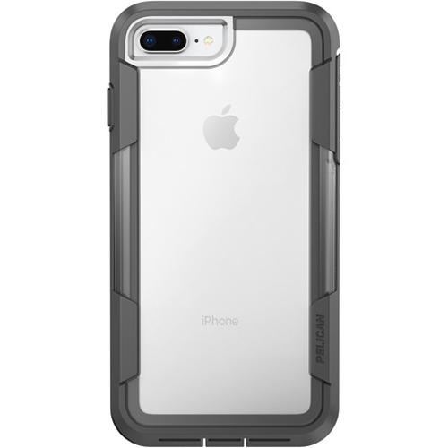 outlet store 3f684 cdd3c Pelican Voyager Rugged Case for Apple iPhone 6 Plus / 6S Plus / 7 Plus / 8  Plus - Clear/Gray