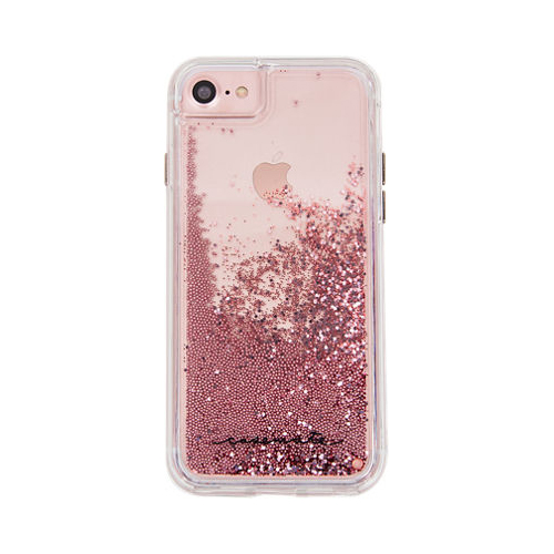 Case-Mate Waterfall Case for Apple iPhone 8/7/6s/6 - Rose Gold/Clear