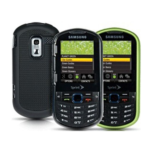 Sprint 2 pack Hard Shell Case for Samsung Restore M570 (Green/Black)