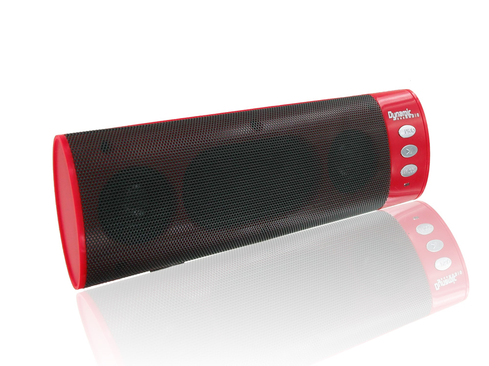 Dynamic Audio - Portable Bluetooth Speaker - Red
