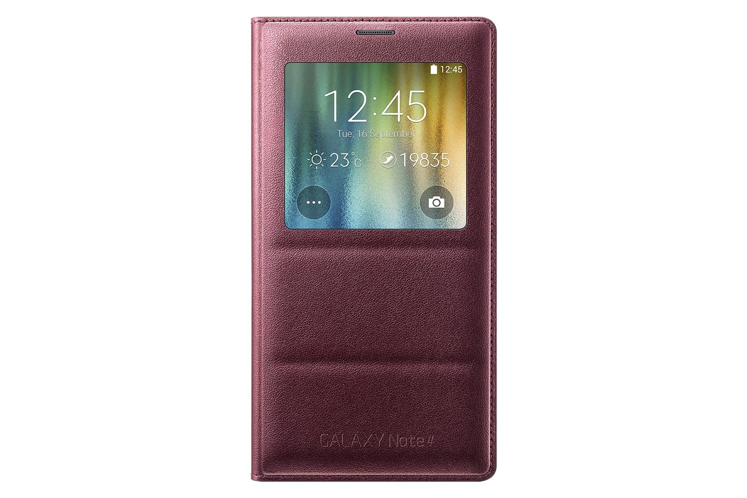 low priced 7566a 5288c Samsung S-View Flip Cover Folio Case for Samsung Galaxy Note 4 - Plum Red