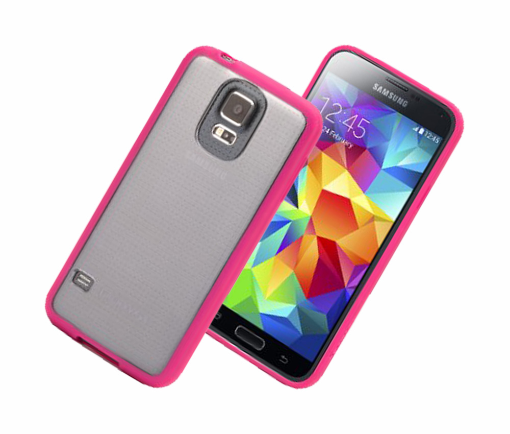 Griffin Reveal Case for Samsung Galaxy S5 (Pink/Clear)