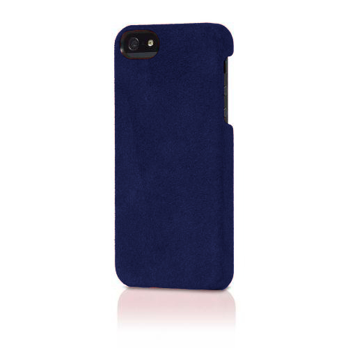 Original Alcantara Italian Design Case for iPhone 5/5s - Dark Blue Suede