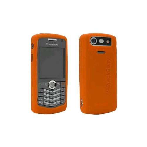 OEM BlackBerry 8120, 8130, 8110 Gel Skin Case, Light Orange