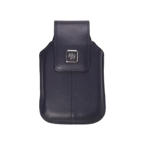 BlackBerry Leather Case with Swivel Belt Clip for BlackBerry Storm 9500, 9530 - Black