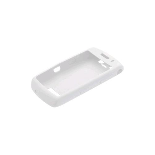 OEM Blackberry 9500 Storm Thunder Rubber Skin Case - White