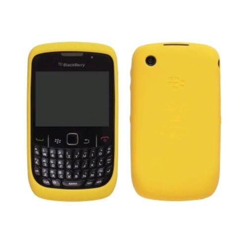 OEM BlackBerry 8520 8530 9300 9330 Silicon Skin Case - Yellow
