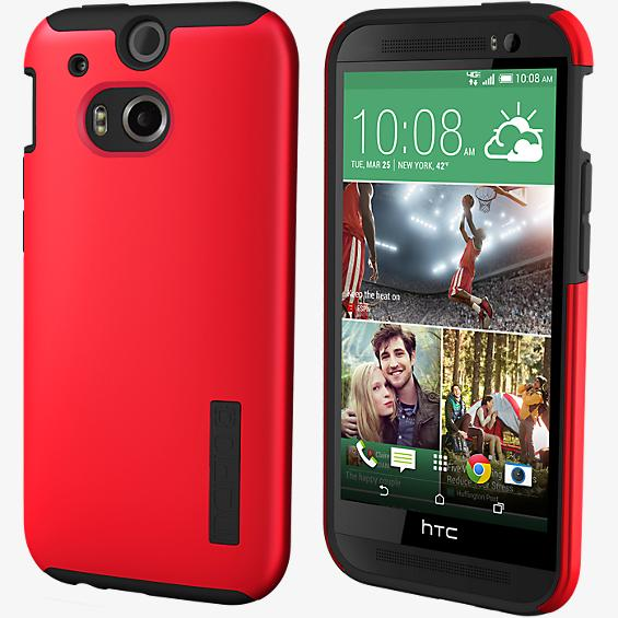 buy popular 27b8a 72205 Incipio DualPro Shock-absorbing Case for HTC One M8 - Red/Black