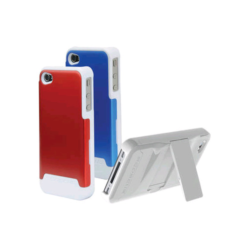 Scosche Polycarbonate case w/ interchangeable backs for Apple iPhone 4/4s - Red & Blue