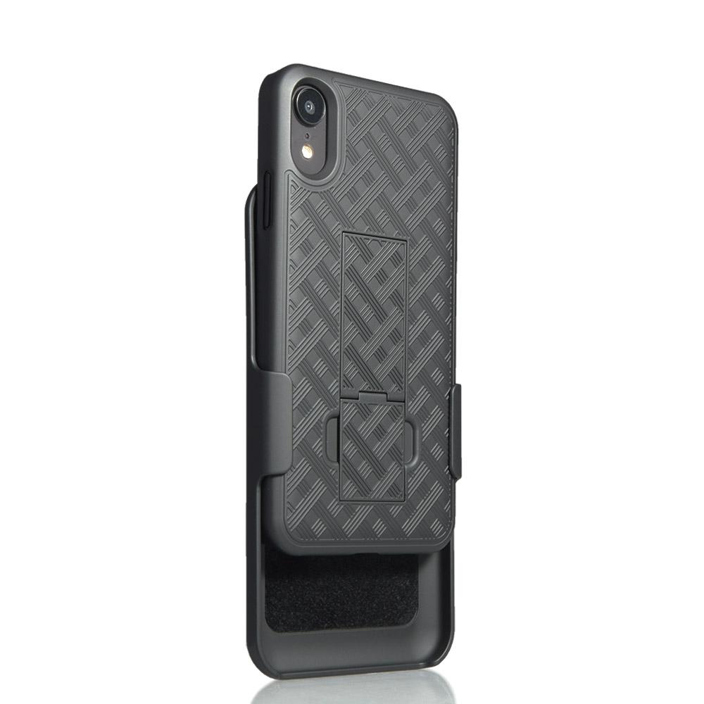 Verizon Kickstand Shell Holster Combo for iPhone XR - Black