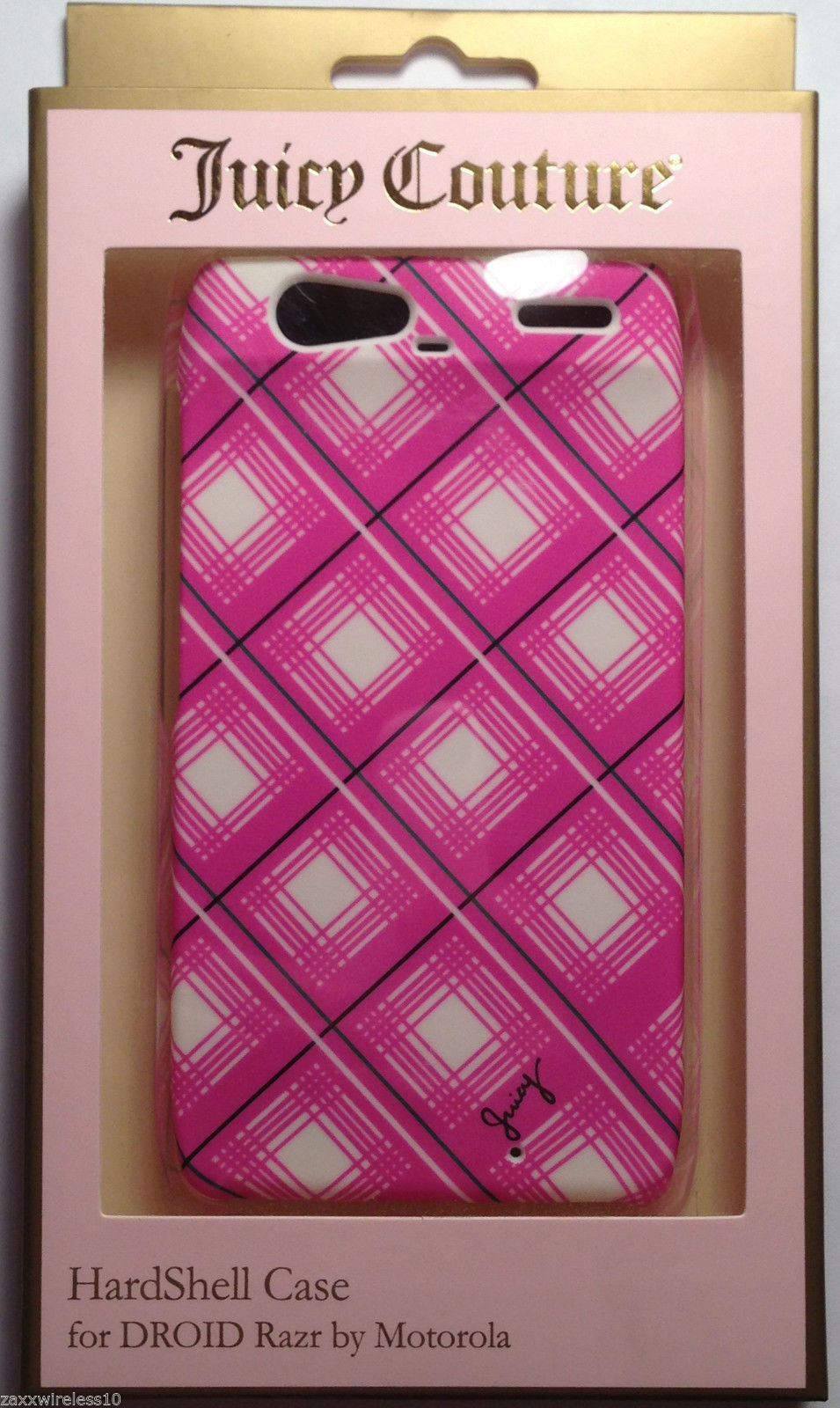 Juicy Couture Hardshell Case for Motorola Droid Razr XT912 - Pink