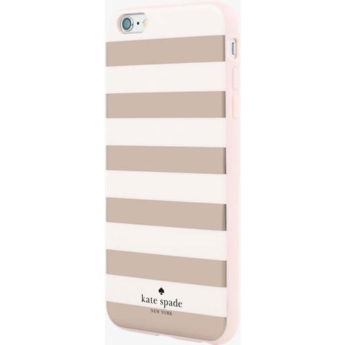 finest selection 1ff61 a8c2b Kate Spade New York Flexible HardShell Case for Apple iPhone 6 Plus/6S Plus  (Stripe Rose Gold)