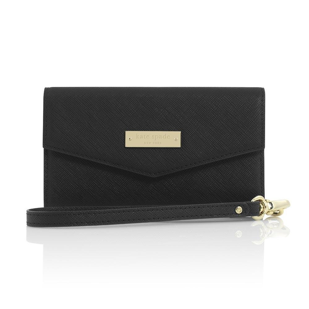 Kate Spade Saffiano Leather Wristlet Wallet Case for Devices up to 4.7 inch - Black