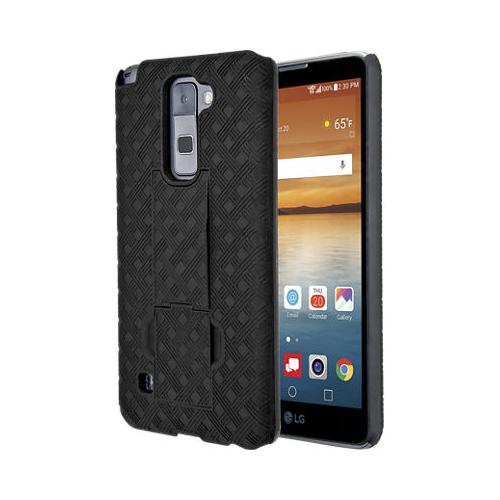 Verizon Kickstand Shell Holster Combo Case for LG Stylo 2 V - Black