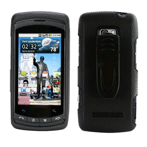 Body Glove - Snap-On Case with Belt Clip for LG Ally VS740 - Black