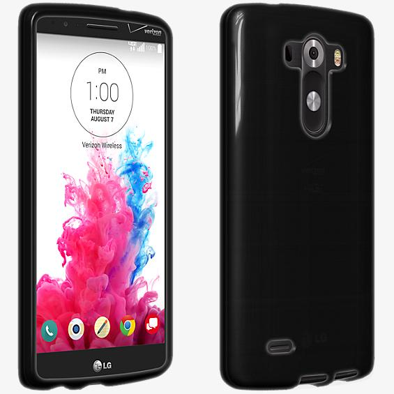Verizon High Gloss Silicone Case for LG G3 - Black