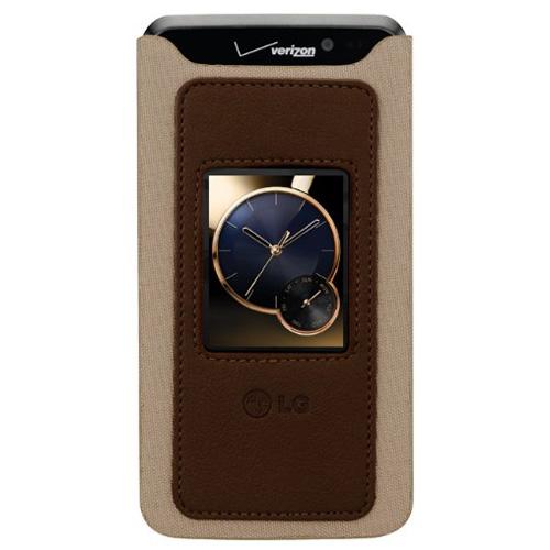 LG Electronics Spectrum Decosleeve CCL-330 for LG VS920 - Tan/Brown
