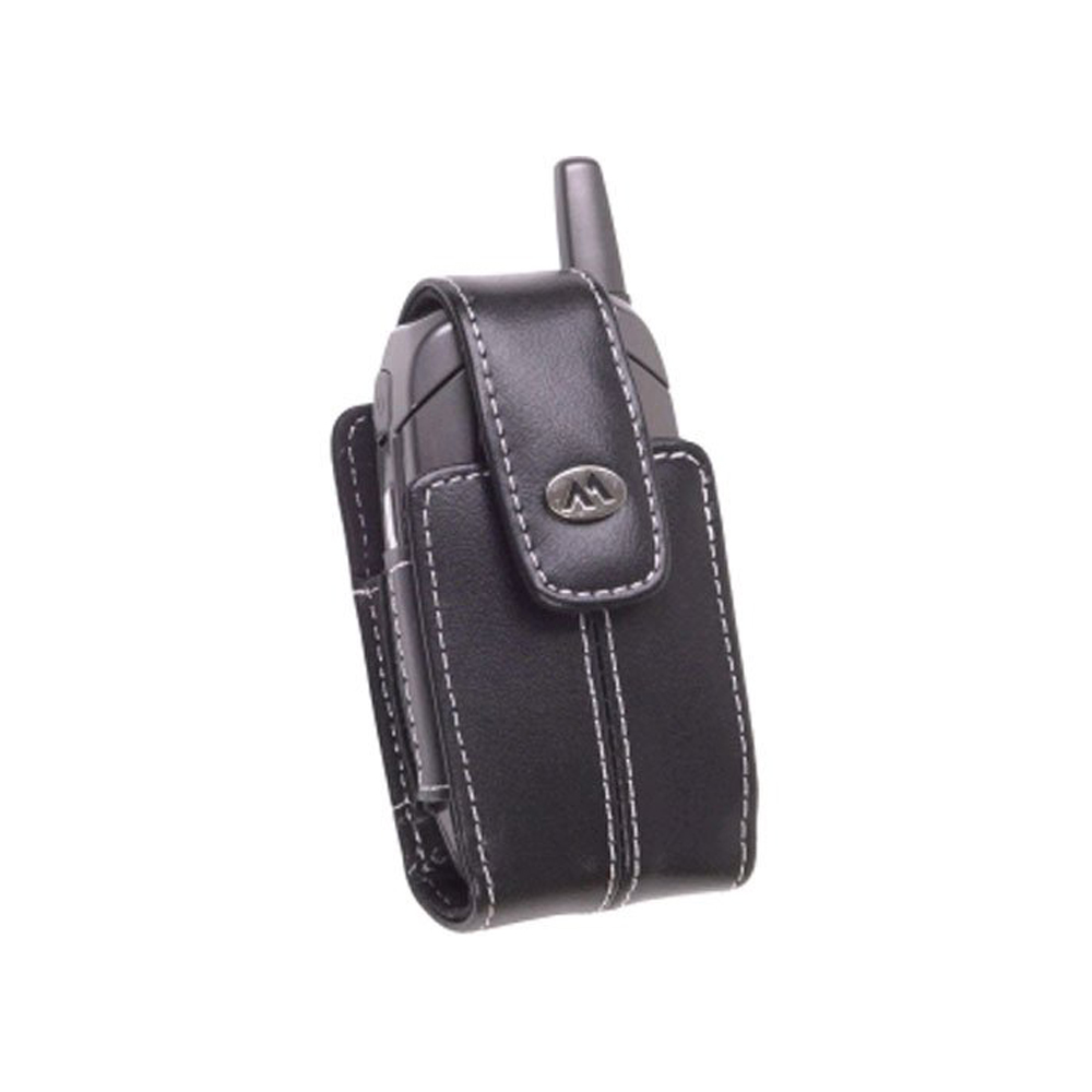 Milante Katteh Rotating Belt Clip Leather Case for Small Flip-Type Phone - Black