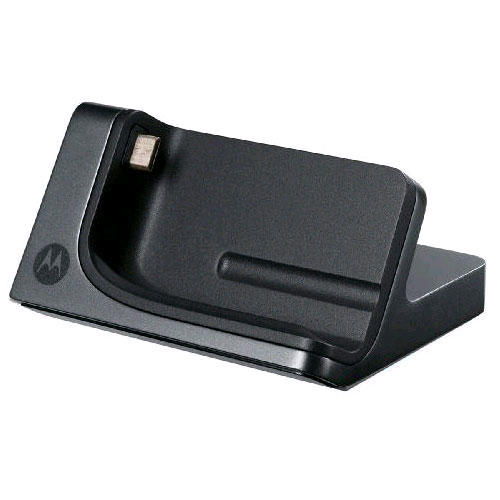 OEM Motorola Desktop Charger with Wall Charger for Motorola Droid Pro XT610 (Black) - MOTDRDPRODSK