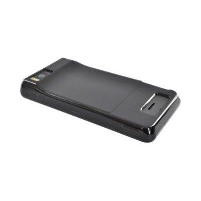 Verizon Silicone Case for Motorola Droid X (Black) MOTDRDXSILHGBK