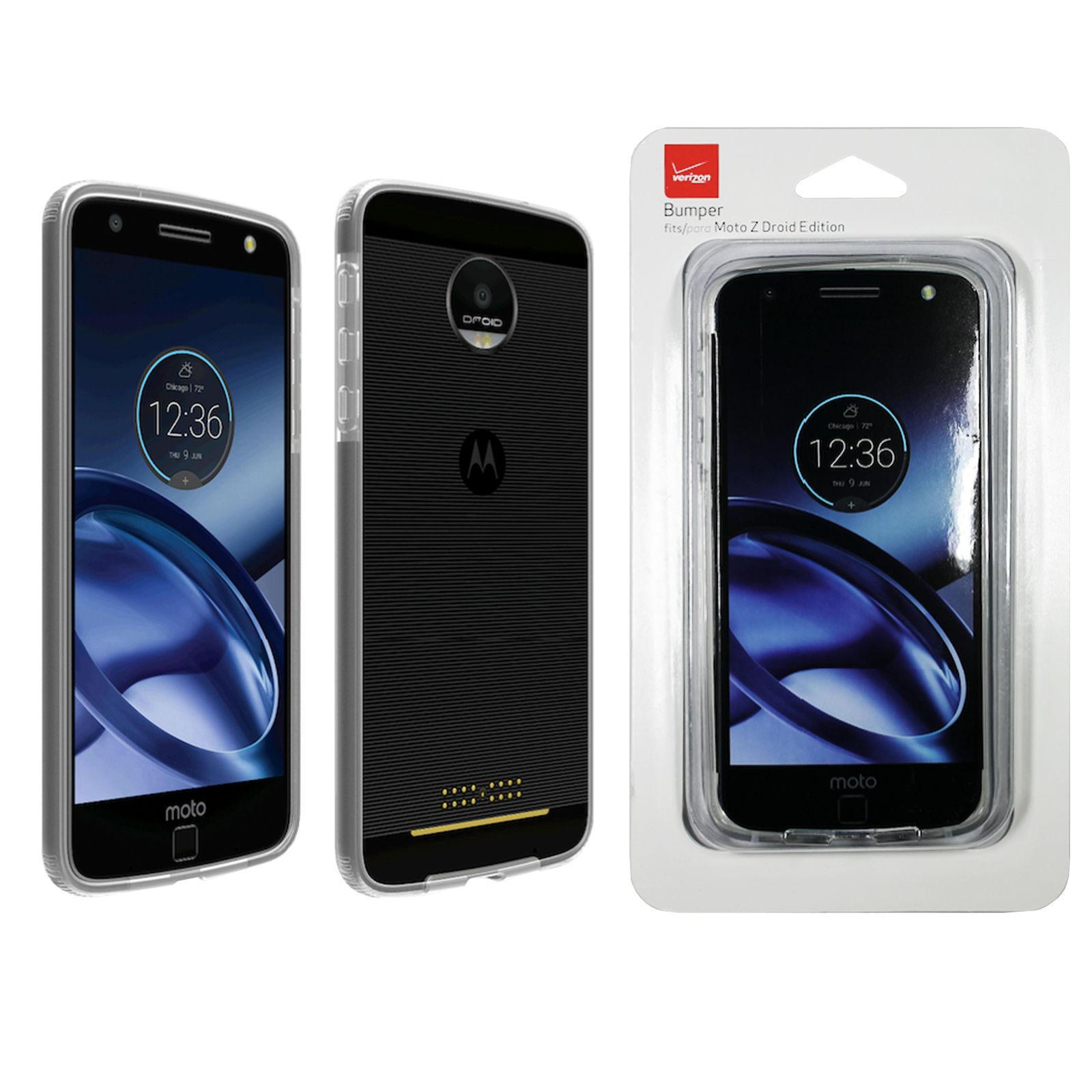 Verizon Matte Silicone Cover Case for Motorola Moto Z/Moto Z droid - Black