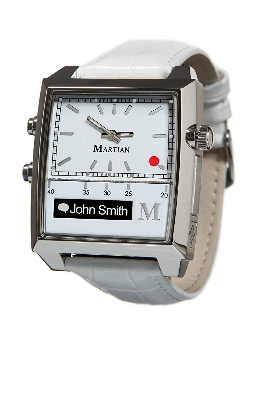 Details about Martian Passport Smart Watch WhiteSilverWhite
