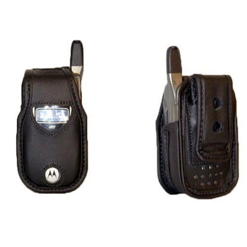 Soft Leather Case with AWedge Swivel Belt Clip (Black)