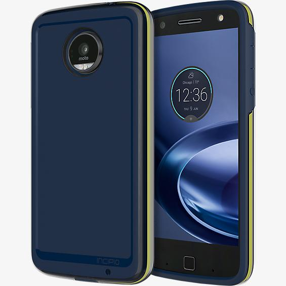 Incipio Performance Series Level 4 case for Moto Z Force Droid - Navy/Yellow