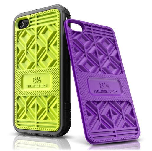 Musubo Sneaker Case for Apple iPhone 4/4S- Lime & Purple