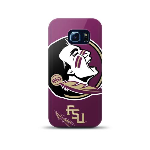 Mizco Sports NCAA Oversized Snapback TPU Case for Samsung Galaxy S6 Edge (Florida State Seminoles )