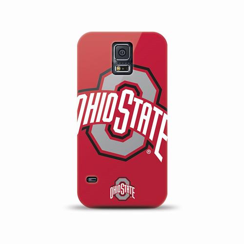 Mizco Sports NCAA Oversized Snapback TPU Case for Samsung Galaxy S5 (Ohio State Buckeyes)