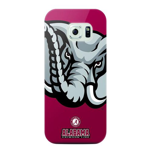 Mizco Sports NCAA Oversized Snapback TPU Case for Samsung Galaxy S6 (Alabama Crimson Tide)
