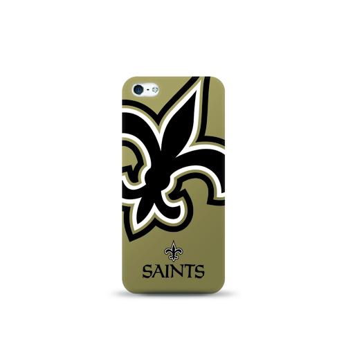 Mizco Sports NFL Oversized Snapback TPU Case for Apple iPhone 5 / 5S / SE (New Orleans Saints)