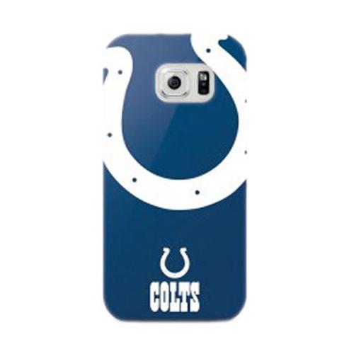 Mizco Sports NFL Oversized Snapback TPU Case for Samsung Galaxy S6 Edge (Indiana Colts)