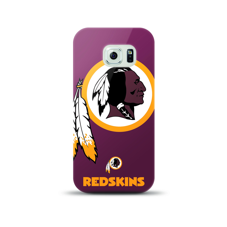 Mizco Sports NFL Oversized Snapback TPU Case for Samsung Galaxy S6 Edge (Washington Redskins)