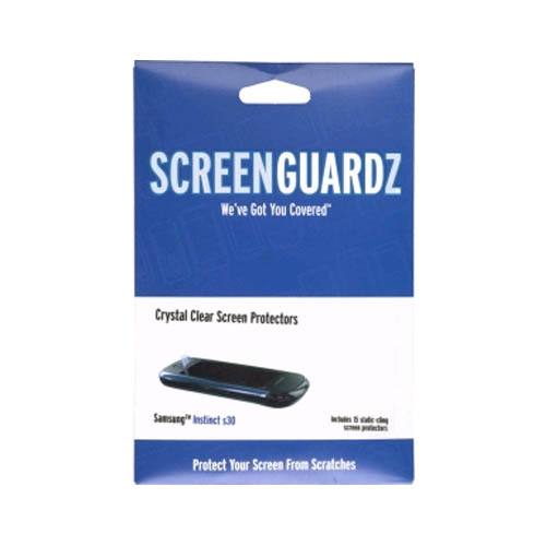 ScreenGuardz Samsung Instinct S30 SPH-M810 Screen Protectors, (15 Pack)