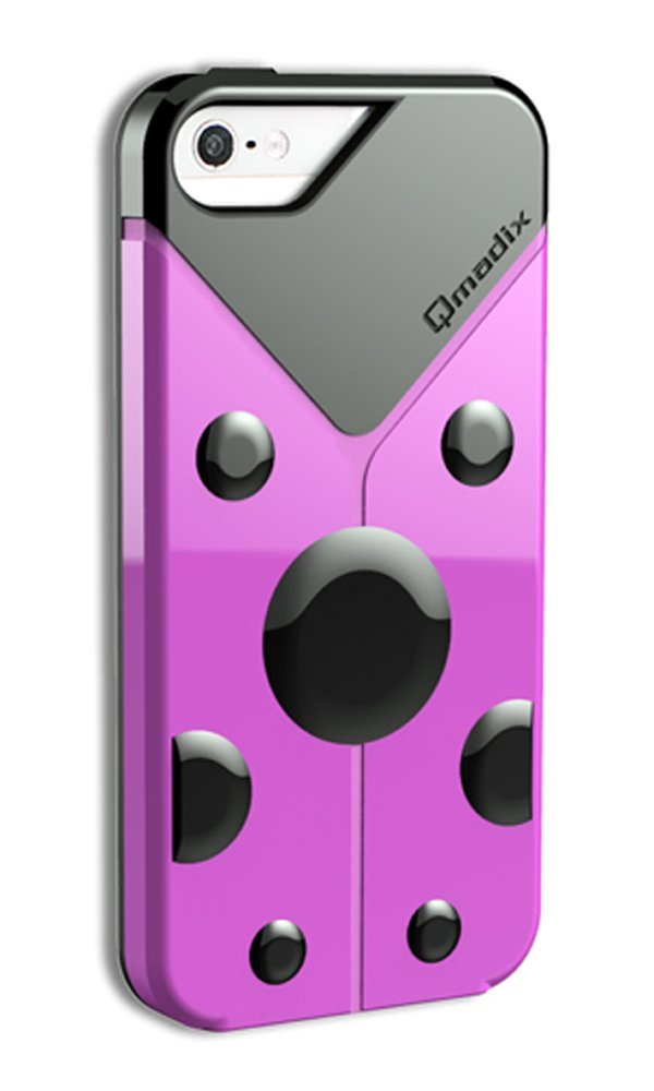 Qmadix LoveBug Case for Apple iPhone 5/5S (Pink)