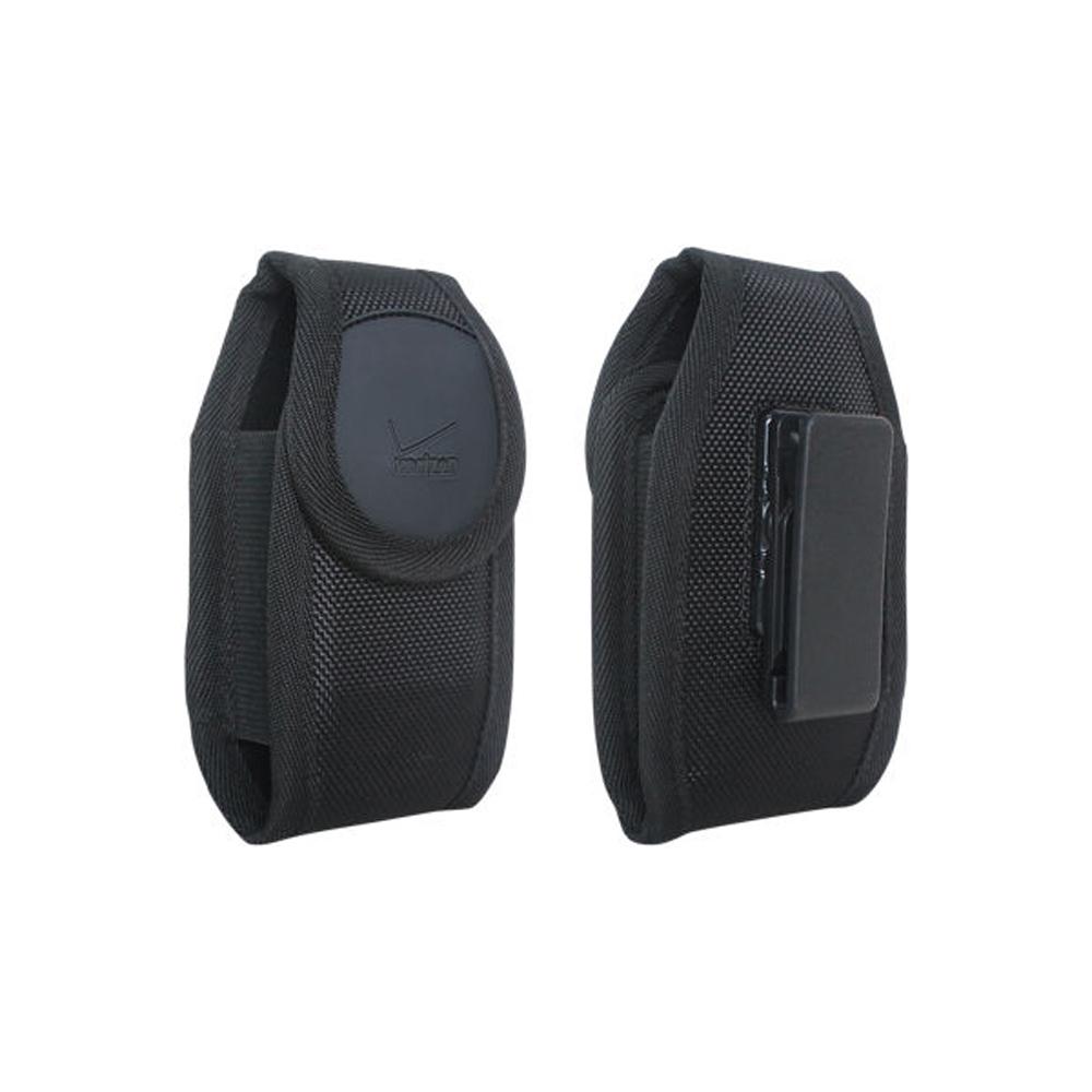 Verizon Rugged nylon case for small device - Black - Fits Convoy 4, DuraXV Plus, DuraXV, Convoy 3, DROID X, S4 mini