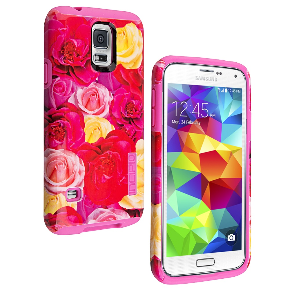 new product 76b97 bbe9b Incipio DualPro Shock-absorbing Case for Samsung Galaxy S5 - Roses/Floral