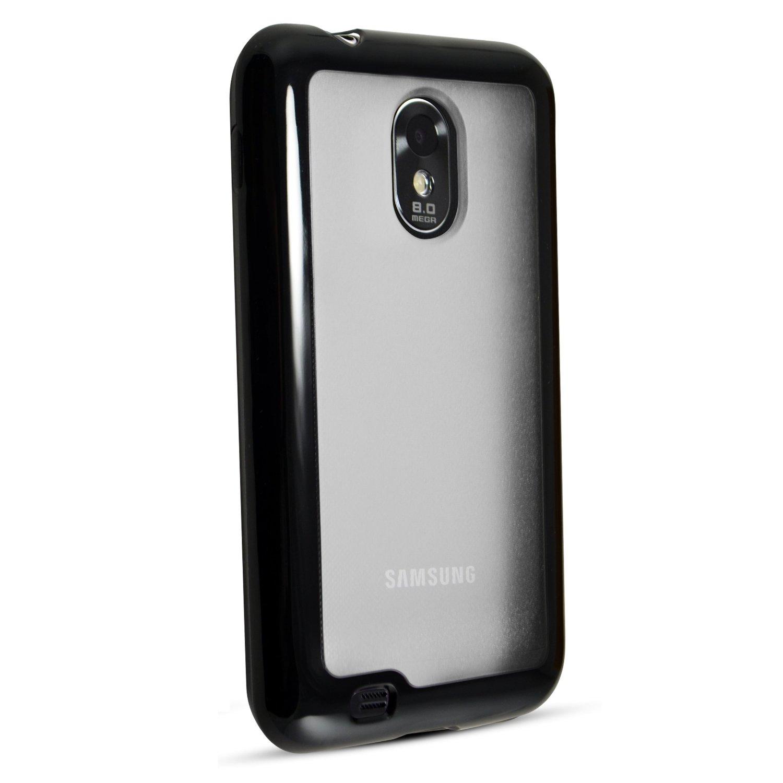 Technocel Hybrigel Protective Case Cover Samsung Epic Touch 4G (Black/clear) - SAD710HGCL-Z