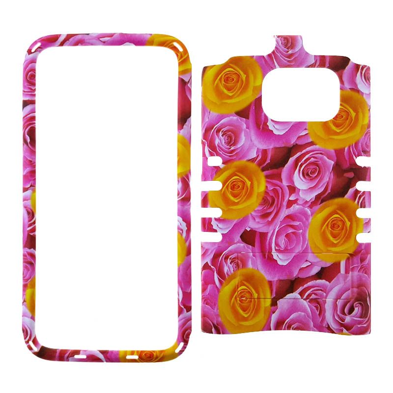 Unlimited Cellular Rocker Snap-On Case for Samsung Galaxy S7-Flower Design