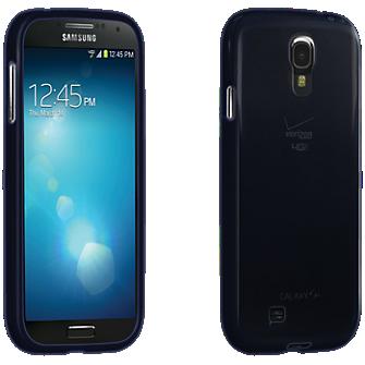 Verizon High Gloss Silicone Case for Samsung Galaxy S4 – Black