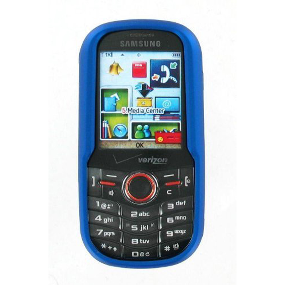 OEM Verizon Samsung Intensity U450 Snap On Case - Blue (Bulk Packaging)