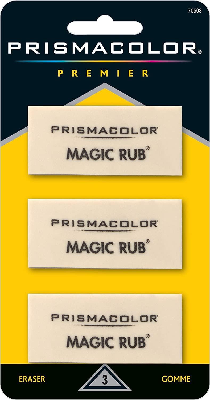 Prismacolor Premier Magic Rub Vinyl Erasers, 3-Count